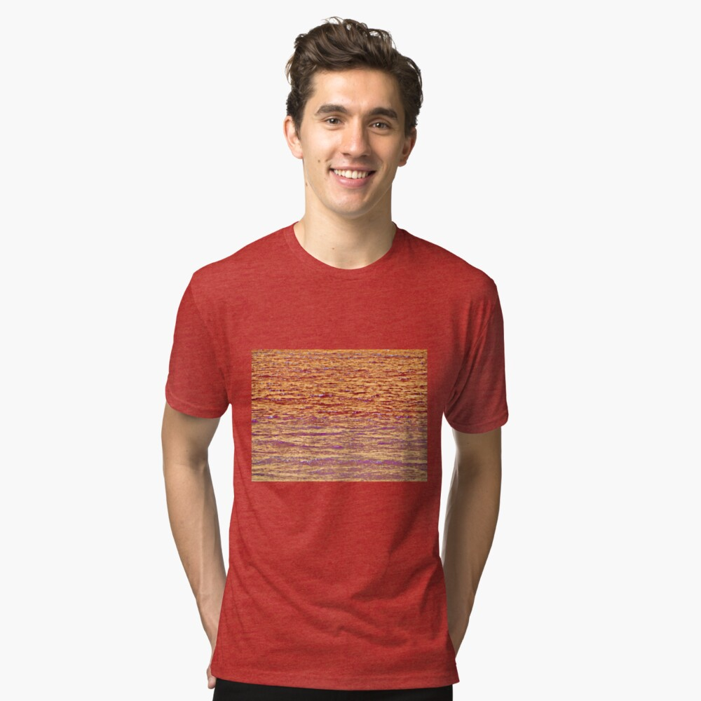Sunset Over Water III Tri-blend T-Shirt Front