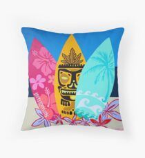 Colorful Surfboards  Throw Pillow