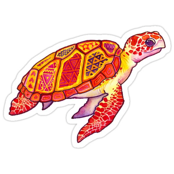 """""""Trippy Turtle"""" Stickers by jensgill   Redbubble"""