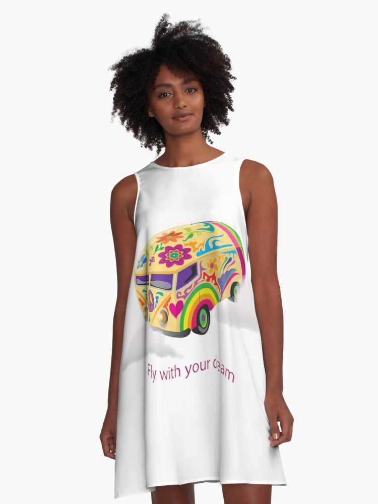 Fly With Your Dream A-Line Dress Front