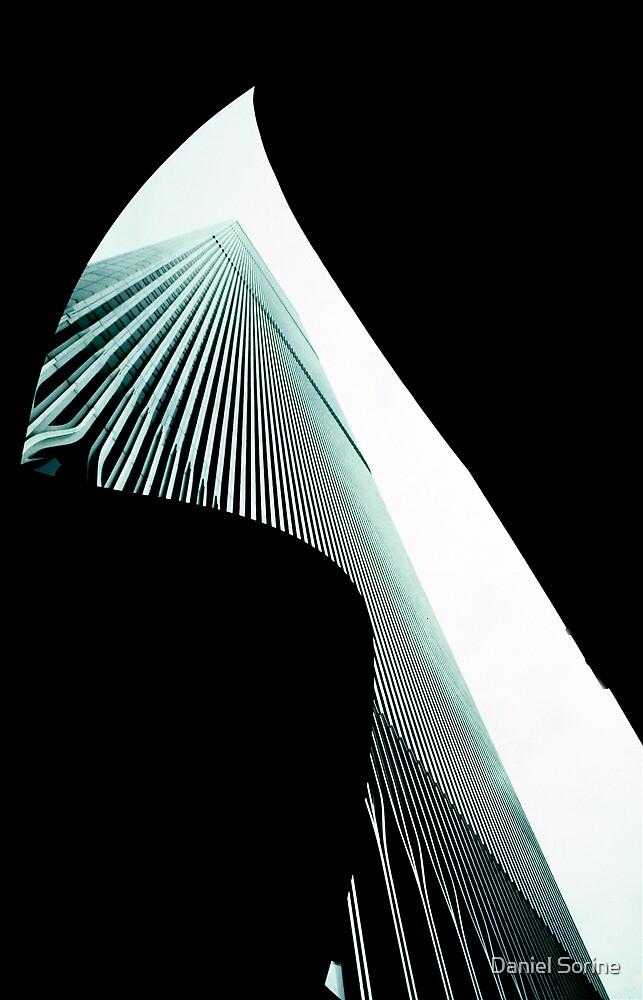 World Trade Center from below. 1974 by Daniel Sorine