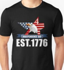 Est. 1776 Eagles Independence Day American Flag T Shirt Unisex T-Shirt