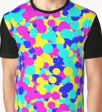 Vibrant Colorful Dots Pattern Graphic T-Shirt