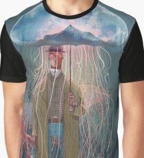 Johnny Eels - The Dapper Under Water Jellyfish Umbrella Man Graphic T-Shirt