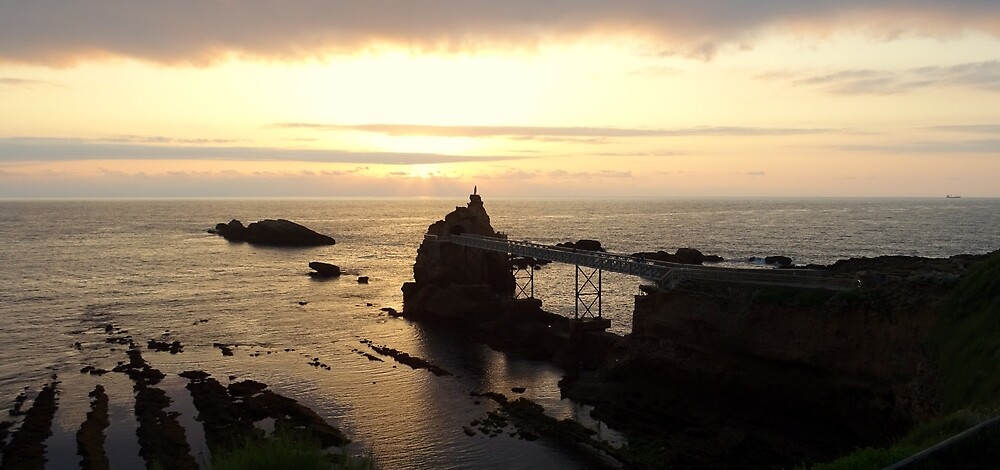 Rock of the Virgin of Biarritz France. by Chantal MARSAULT