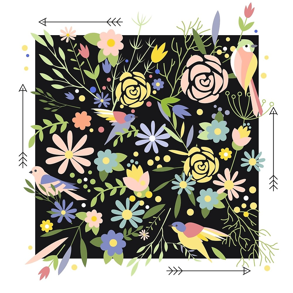 Flowers Graphic ornament by topvectors