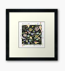 Flowers Graphic ornament Framed Print