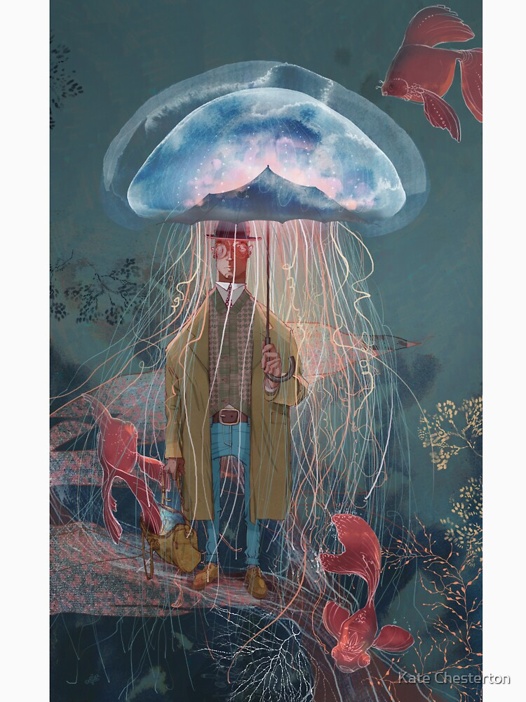 Johnny Eels - The Dapper Under Water Jellyfish Umbrella Man by kate-chesterton