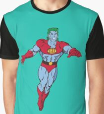 Flying Captain Planet Graphic T-Shirt