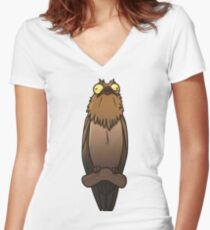 Derpy Potoo Women's Fitted V-Neck T-Shirt