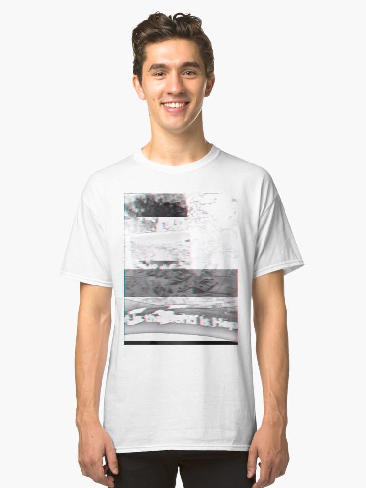inverted world glitch art Classic T-Shirt Front