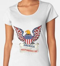 AMERICA INDEPENDENCE DAY T SHIRT 4th of July 1776-2017 Women's Premium T-Shirt