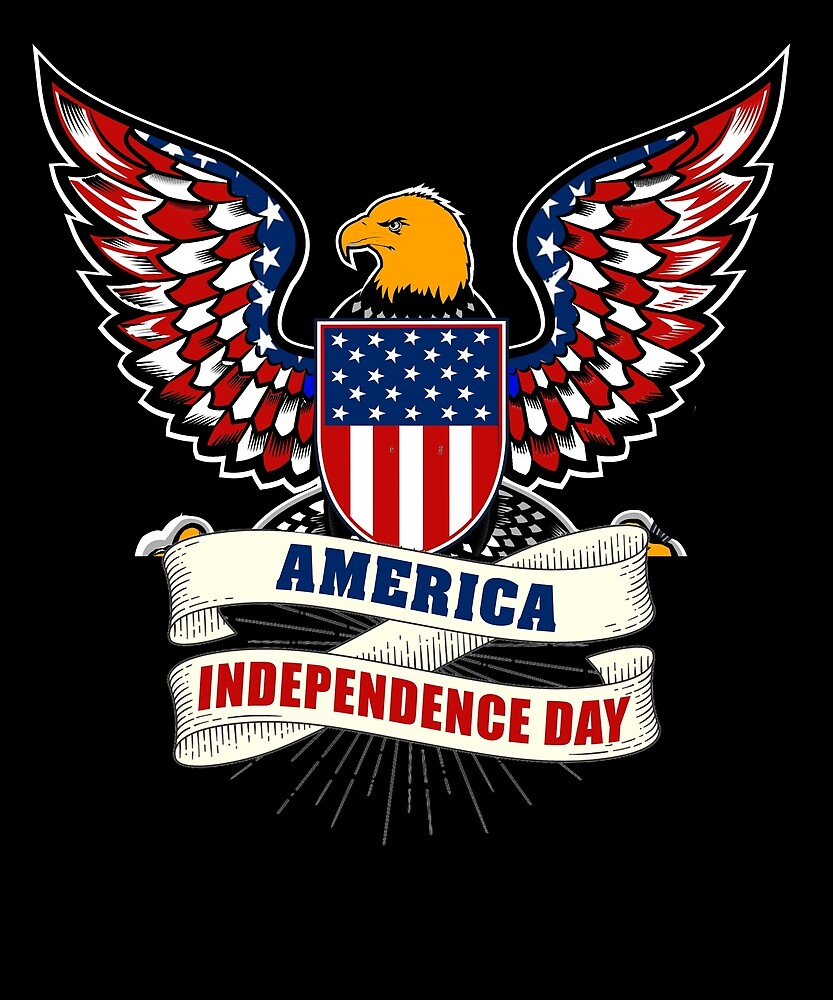 AMERICA INDEPENDENCE DAY T SHIRT 4th of July 1776-2017 by sondinh