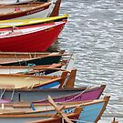 Skiffs at Portsoy by Jennifer J Watson