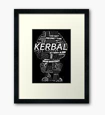 Kerbal Black Framed Print