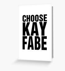 Choose Kayfabe Greeting Card