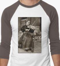 Hardanger fiddle player Men's Baseball ¾ T-Shirt