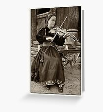 Hardanger fiddle player Greeting Card