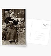 Hardanger fiddle player Postcards