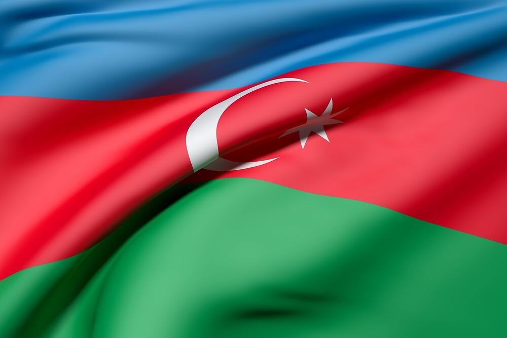 Azerbaijan flag by erllre74