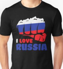 I Love Russia Independence Day T Shirt Russian Heart Gifts Unisex T-Shirt