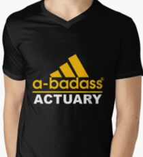 ACTUARY NEVER WRONG Men's V-Neck T-Shirt