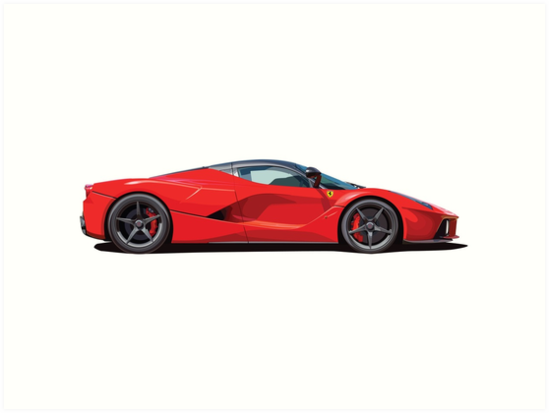 Ferrari La Ferrari Illustration by jaminak