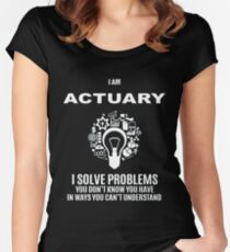 ACTUARY DEFINITION Women's Fitted Scoop T-Shirt