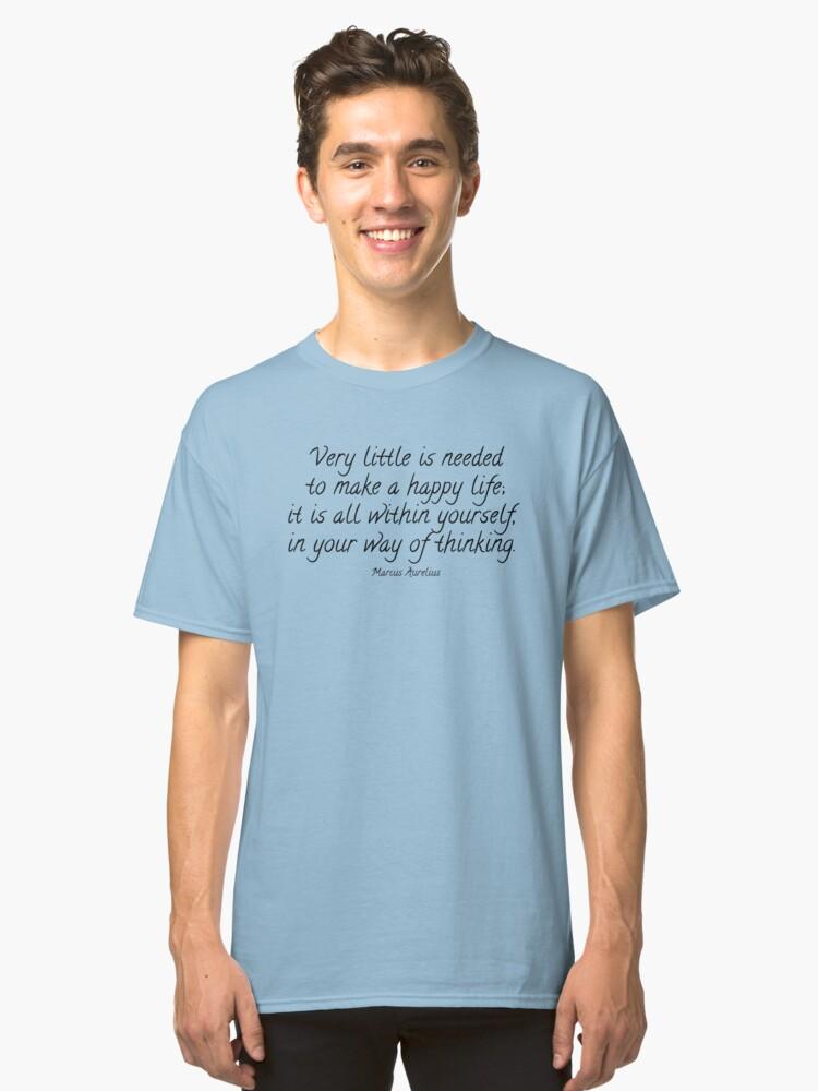 Marcus Aurelius Quote Classic T-Shirt Front