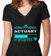 ACTUARY TRUST ME Women's Fitted V-Neck T-Shirt