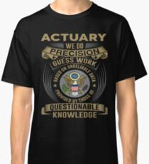 ACTUARY POWERED BY COFFEE Classic T-Shirt