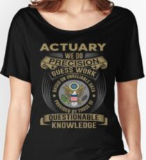 ACTUARY POWERED BY COFFEE Women's Relaxed Fit T-Shirt