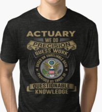 ACTUARY POWERED BY COFFEE Tri-blend T-Shirt