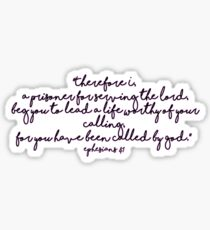 Ephesians 4:1 Sticker