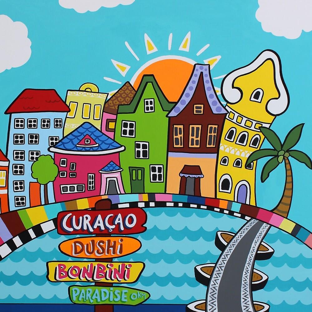 Colorful Caribbean houses  by MonsoonSafari