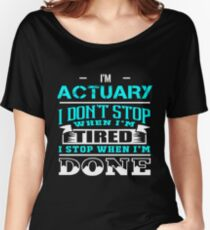 ACTUARY CALL ME MOM Women's Relaxed Fit T-Shirt