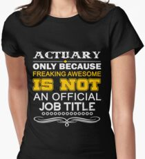 ACTUARY CALL ME DAD Women's Fitted T-Shirt