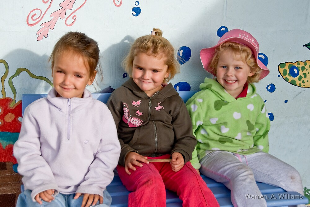 3 Little Girls by Warren. A. Williams