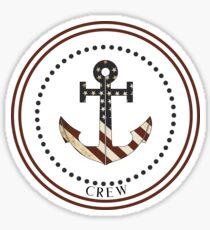 American Captain Anchor America Design Sticker