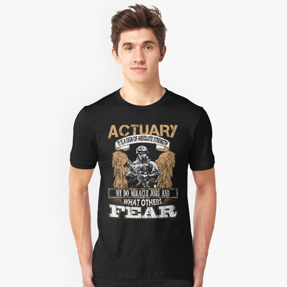 ACTUARY FREAKING AWESOME Unisex T-Shirt Front
