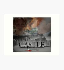 What would you do if the love of your life vanished into thin air? #Castle Art Print