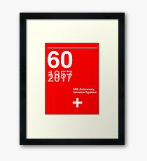 60th Anniversary  Helvetica Typeface Framed Print