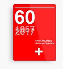 60th Anniversary  Helvetica Typeface Metal Print