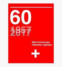 60th Anniversary  Helvetica Typeface Photographic Print