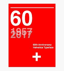 60th Anniversary  Helvetica Typeface Photographic Print