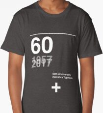 60th Anniversary  Helvetica Typeface Long T-Shirt