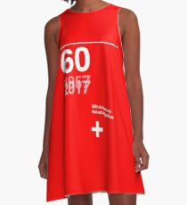 60th Anniversary  Helvetica Typeface A-Line Dress