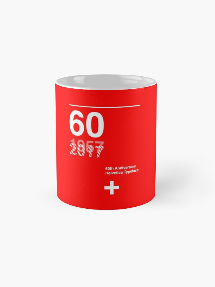 Alternate view of 60th Anniversary  Helvetica Typeface Mug
