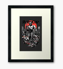 RoboCop - Graphic Novee Style Framed Print