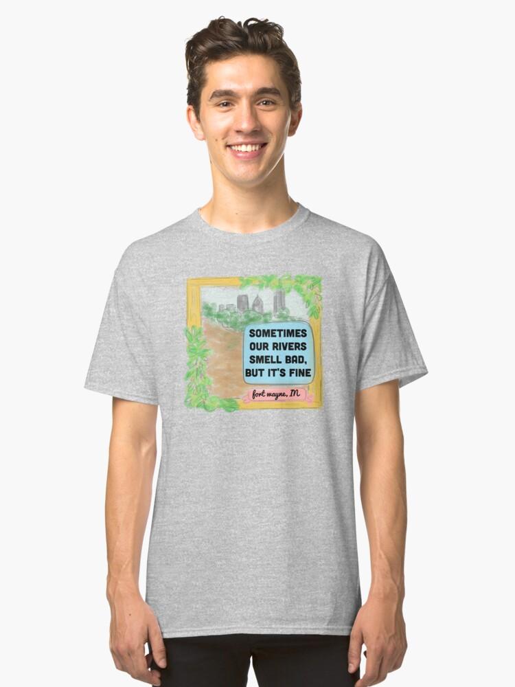 Fort Wayne Rivers Rejected Postcard T-Shirt Classic T-Shirt Front